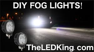 Diy Led Fog Lights How To Instal Custom Super Bright Led Work Light Fog Lights