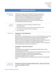 bookkeeper resume template guide onlineresumebuilders bookkeeper resume