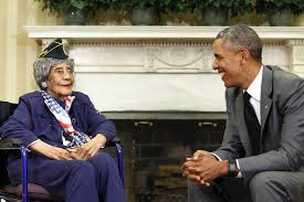 oval office july 2015. President Barack Obama Smiles With Emma Didlake, The Oldest Known World War  II Veteran At Oval Office July 2015 A