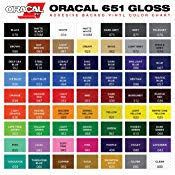 Oracal 651 Ultimate 5ft Length Assortment All 63 Colors Unbeatable Value