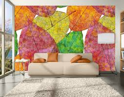 Small Picture Autumn Leaves Wall Mural YOUR DECAL SHOP NZ Designer Wall Art