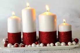 Glitter Candles - Easy DIY Christmas Decorations that you can make in less  than 30 minutes