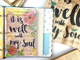 journaling ideas using hymnal book pages