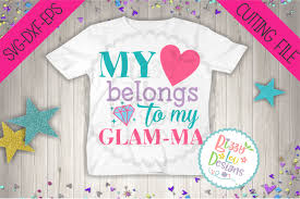 Create responsive svg image maps. Free My Heart Belongs To My Glamma Svg Dxf Eps Cutting File Crafter File Download Free Svg Files Creative Fabrica