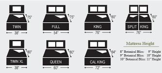 mattress sizes. Mattress Size Chart Sizes E