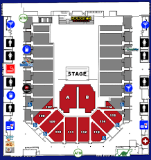 Nfr Seating Chart With Rows Seating Charts Casper Events Center