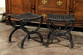 industrial style outdoor furniture. A Pair Of Iron Belle Epoque Style Garden Stools From France, 20th Century. These Industrial Outdoor Furniture