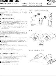 marantec america d384315 digital 382 and digital 384 2channel and nel hand transmitter as accessory for garage door opener user manual 15 digital 384