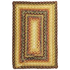 homespice 412195 peppercorn rectangular rug in gold brown red and black finish