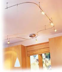 flexible track lighting kitchen idea