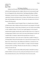 the grapes of wrath essay king julianne king ap english lit  5 pages the taming of the shrew essay