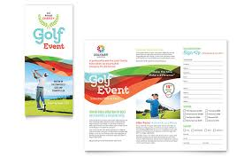 Flyer Formats Charity Golf Event Brochure Template Word Publisher