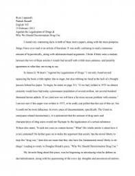 Drug Legalization Essay Against The Legalization Of Drugs Why We Should