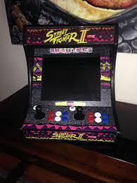 street fighter ii 2 arcade machine cabinet bartop tabletop