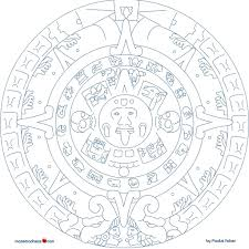 Simple Summer Coloring Pages With Inca Sun Page Kids To Of Mayan