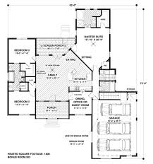 traditional style house plan 4 beds 3 00 baths 1800 sq ft 56 558 lively square foot plans with bonus room