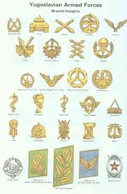 Army Insignia Chart Collar Branch Insignia Of The Yugoslav Peoples Army Jna