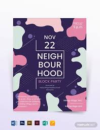 Block Party Flyer Free 79 Party Flyer Examples Psd Ai Eps Vector Examples