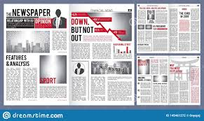 Newspaper Article Design Newspaper Template Print Design Layout Of Newspaper Cover