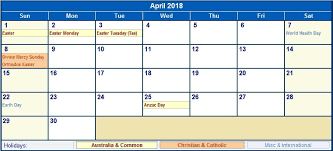 write in calendar 2018 april 2018 holiday calendar u s uk canada australia india