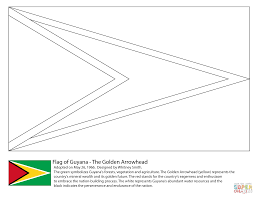 Small Picture Guyana Flag coloring page Free Printable Coloring Pages