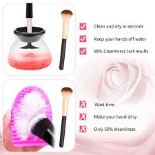 amazon makeup brush cleaner and dryer pletely cleans and dries all makeup brushes in seconds suit for all size makeup brushes black beauty