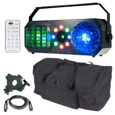 american dj boom box fx1 effect light with wash derby strobe chase green red laser package