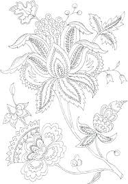 Coloring Pages For Adults Flowers Flower Printable Coloring Pages
