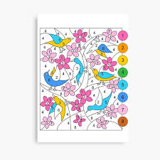 Check out our coloring canvas selection for the very best in unique or custom, handmade pieces from our wall décor shops. Color By Number Canvas Prints Redbubble