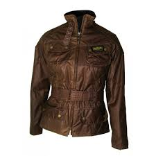 barbour international jacket womens brown