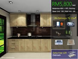 kitchen cabinet promotion package melamine abs february 2017
