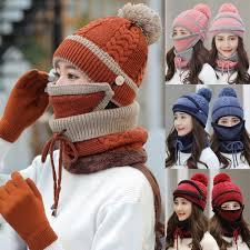 SPRING PARK - SPRING PARK 1 Set <b>Women Winter Knitted</b> Beanie ...