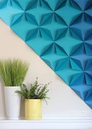 Small Picture Renter Friendly 3D Paper Wall Art
