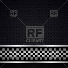 Chequered Pattern Mesmerizing Metallic Racing Chequered Pattern With Perforated Background Royalty