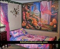 dragons and faries wall murals fairy