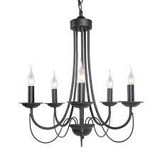 Allen Roth Wintonburg 5 Light Aged Bronze Chandelier Lnc 5 Light Black Mini Chandelier Candle Chandelier