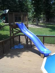 in ground pools with slides. Delighful Ground Dad U Stuff For Dads Dad50 25 Pool Slide This Is Awesome I Bet  Mommy Will Use That More Then The Kids Haha On In Ground Pools With Slides N