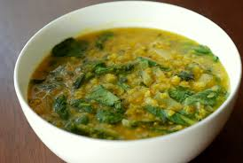 curried red lentil and spinach soup