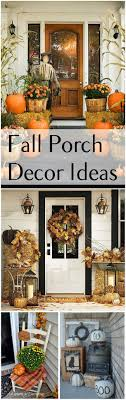 Outside Fall Decor Fall Porch Decor Ideas Porch Front Doors And Decoration