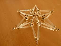 Perlenstern Christbaumschmuck Weihnachtsschmuck 3d Stern