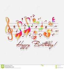 Congratulations Design Happy Birthday Musical Congratulations Stock Vector