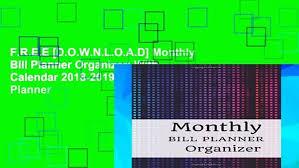 Bill Organizer Extraordinary FREE [DOWNLOAD] Monthly Bill Planner Organizer With