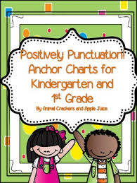 Punctuation Anchor Chart 1st Grade Positively Punctuation Anchor Charts For Kindergarten And 1st Grade