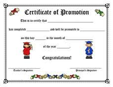 certificate of promotion template certificate of promotion printables template for pre k 2nd grade
