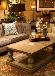 Creative Coffee Table Decorating Ideas Pictures For Your Living Room :  Attractive Brown Tufted Fabric Sofa