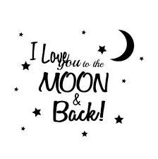 Quote I Love You To The Moon And Back Classy Kids Wall Sticker Quote I Love You To The Moon And Back Fixate