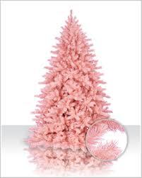 Pink Flocked Spruce Tree