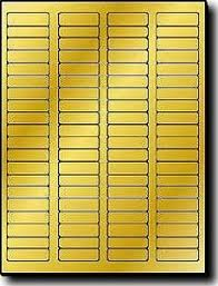Avery 5167 Labels 8 000 Gold Metallic Foil Glossy Laser Only Labels 1 3 4 X 1 2 Inch