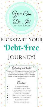 Debt Free Bundle Budget Planner Goal Tracker Saving Money Debt