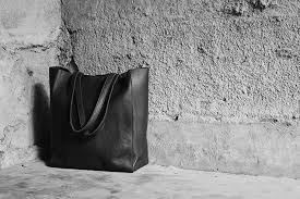 black soft leather ping bag black leather tote